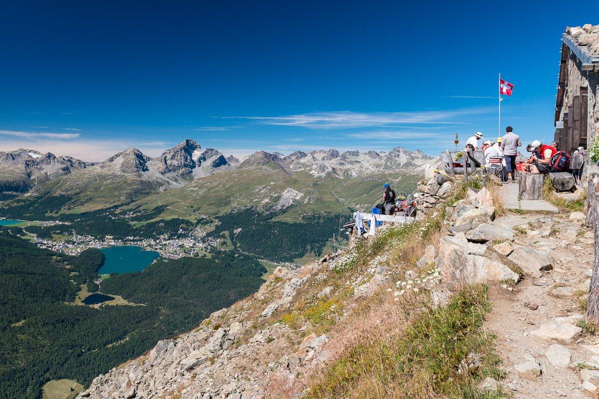 Segantini Hütte mit Oberengadin