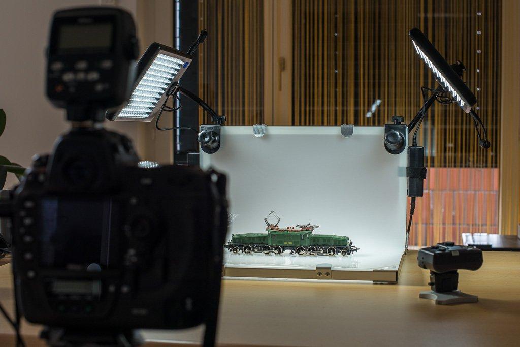 Walimex Makro Aufnahmetisch mit 2 LED Leuchten