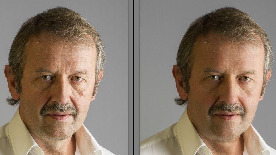 Selbstportrait mit 'Vorher / Nachher' Vergleich (Photoshop)