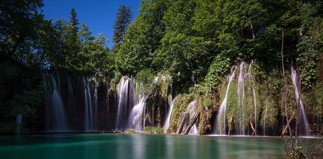 Wasserfall im Nationalpark Plitvice