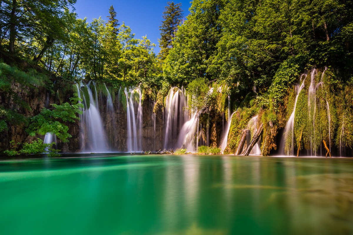 Im Nationalpark Plitvička Jezera (Kroatien)