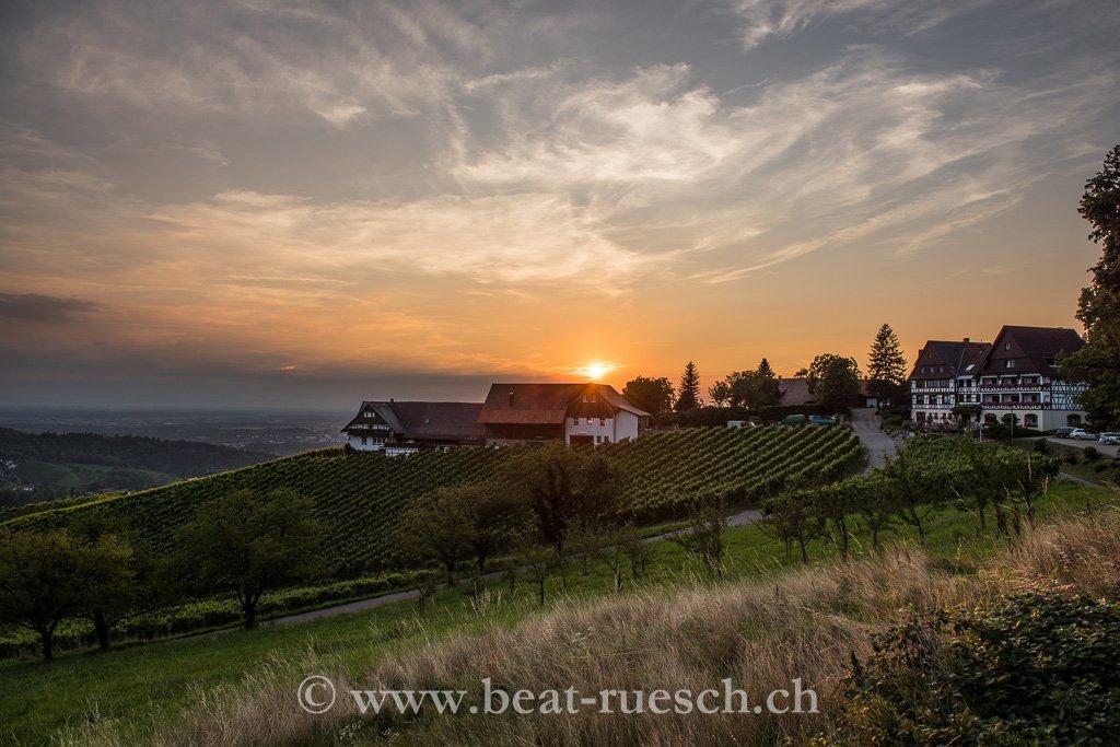 Abendstimmung beim Hotel Tannenhof in Sasbachwalden