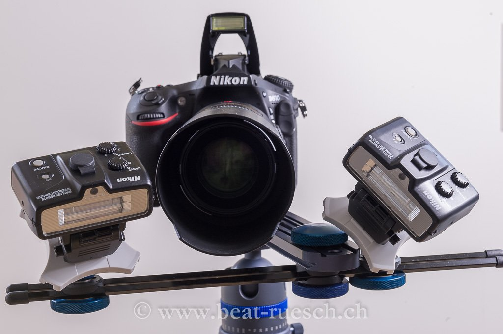 Makroobjektiv mit 2 x SB-R200 - ausgelöst durch den integrierten Blitz