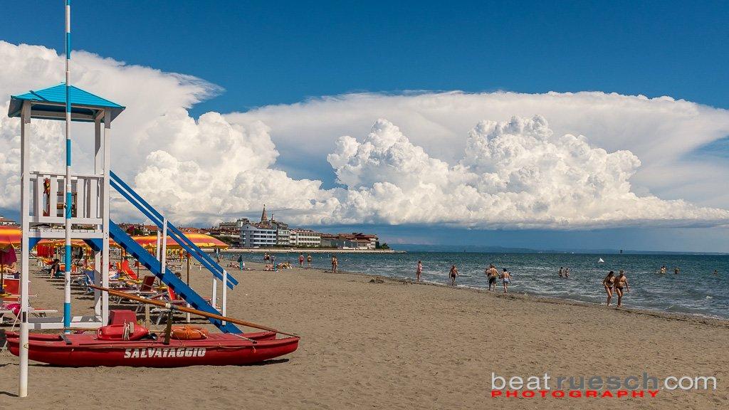 Am Strand von Grado