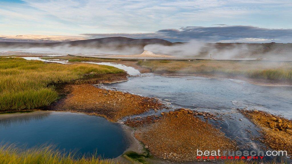 Campingplatz im Geothermalgebiet von Hveravellir
