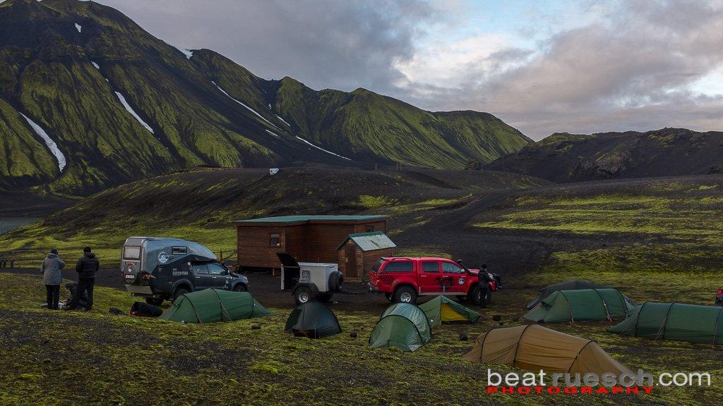 Unser Nachtlager am Langisjór