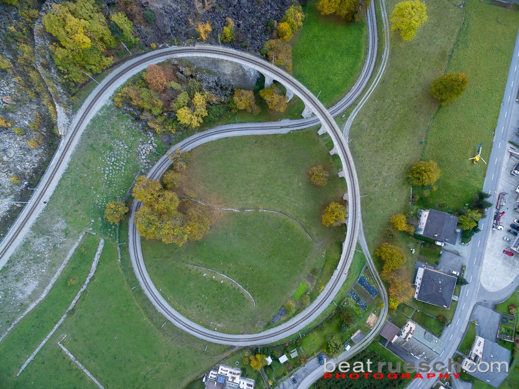 Rondell der Rätischen Bahn bei Brusio