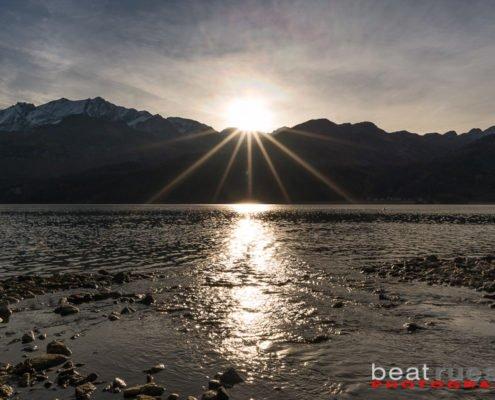 Sonnenaufgang am Silsersee