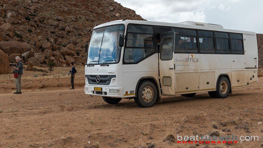 Unser Reisebus von aussen