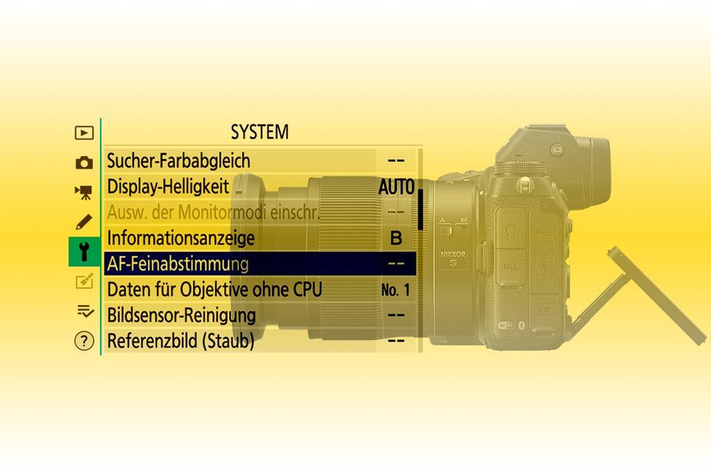 AF-Feinabstimmung Nikon Z7