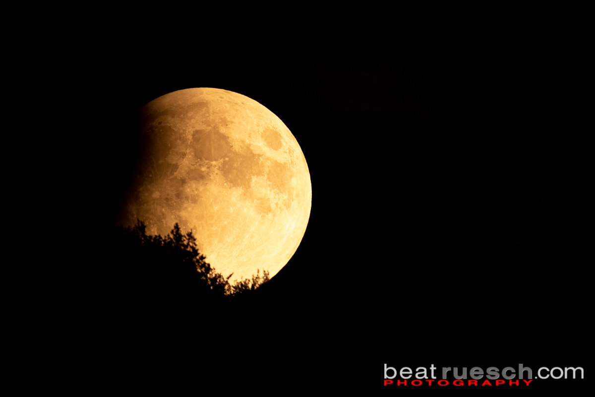 Partielle Mondfinsternis - Mondaufgang