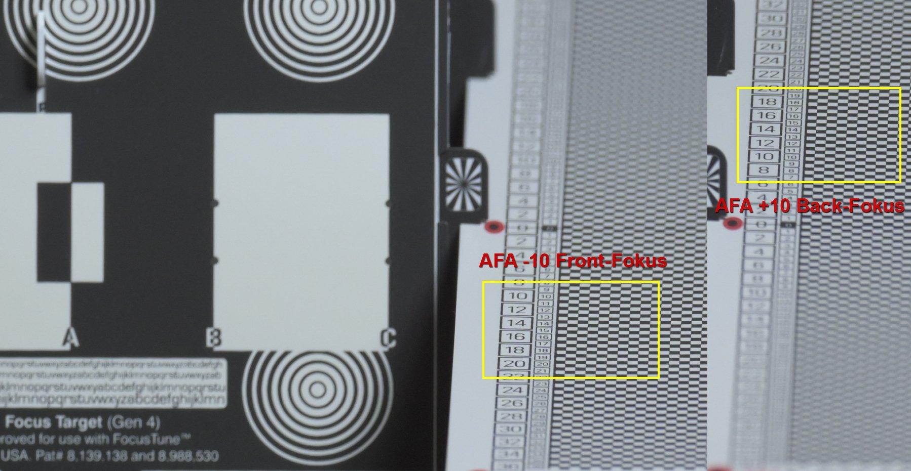 Z7 mit AF-S NIKKOR 500mm 1:5,6E PF ED VR - 2 JPEG AFA -10 und AFA +10