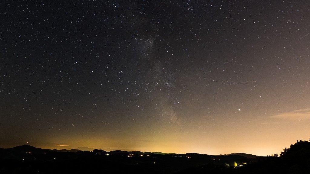 Milchstrasse Ende August (GZ 10° über Horizont) - Standort Schmidrüti
