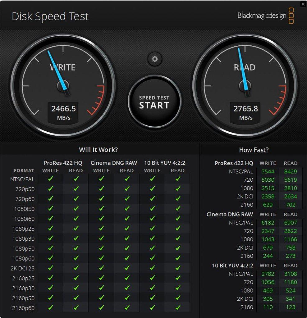 Blackmagic Diskspeed auf 2TB NVMe SSD