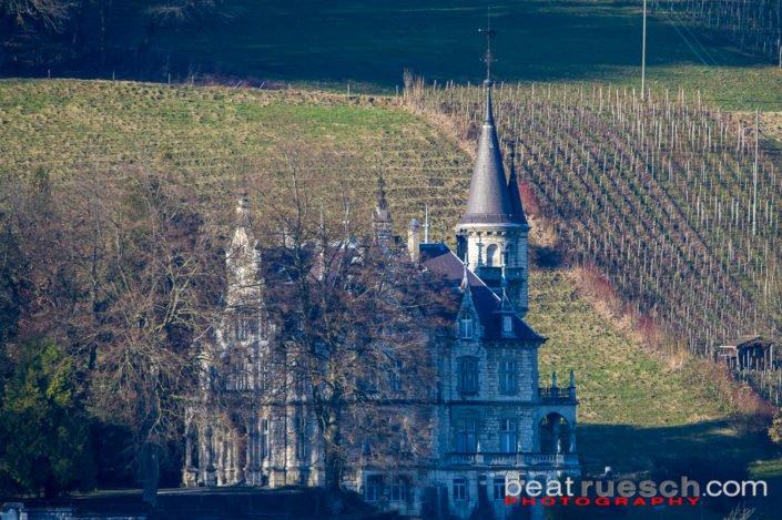 Schloss Wart mit dem Teleobjektiv (Neftenbach)