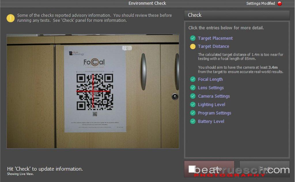 FoCal Pro 2.6 - Einstellungs- und Target Check